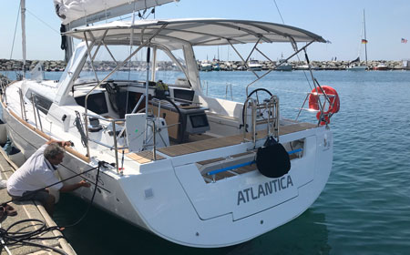 Stern view Atlantica, June 2018